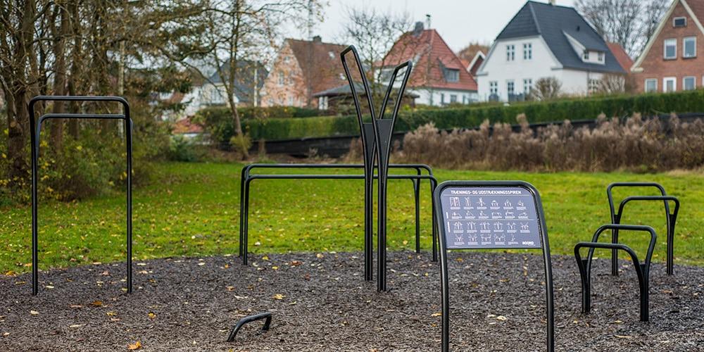 Udendørs fitnessredskaber træningsoase i Viborg