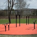 udendørs motionsredskaber Herning orange helstøbt EPDM gummibelægning