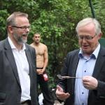 Borgmester Jørgen Glenthøj åbner udendørs fitnesspark på frederiksberg