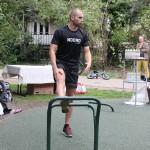 Udendørs motionsredskaber frederiksberg udstrækning af ben