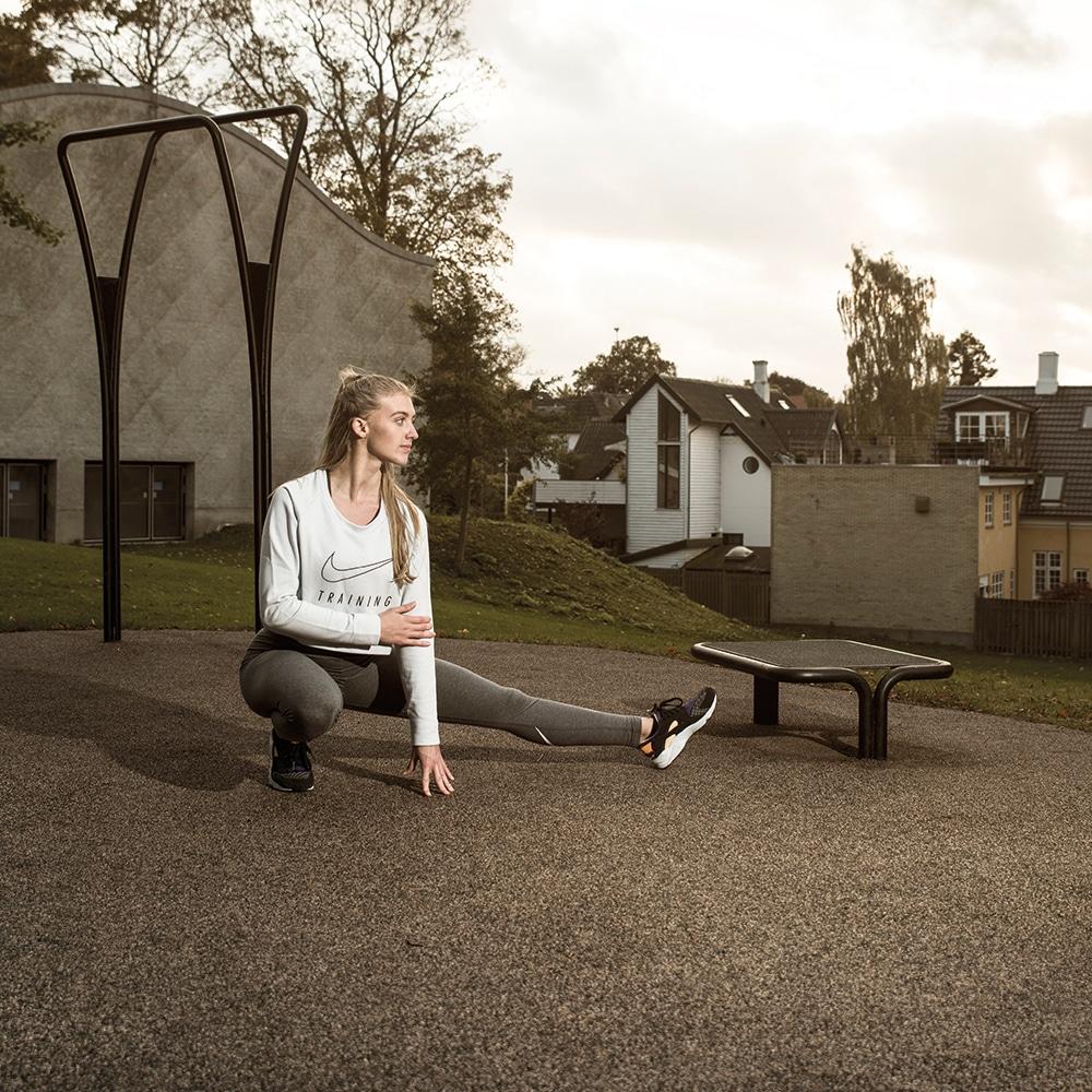 Funktionelle trænings- og udstrækningsredskaber til udendørs fitness