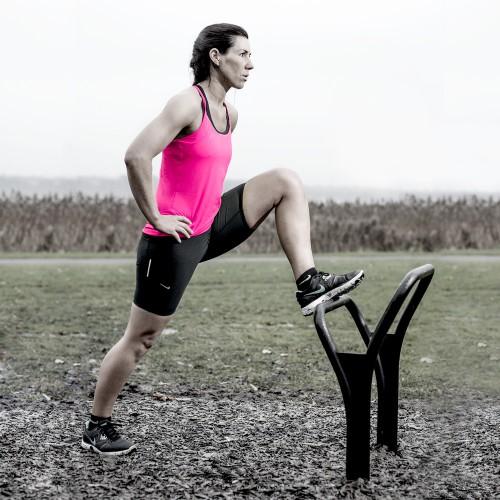Flotte udendørs fitnessredskaber lunge stretch spirer 700