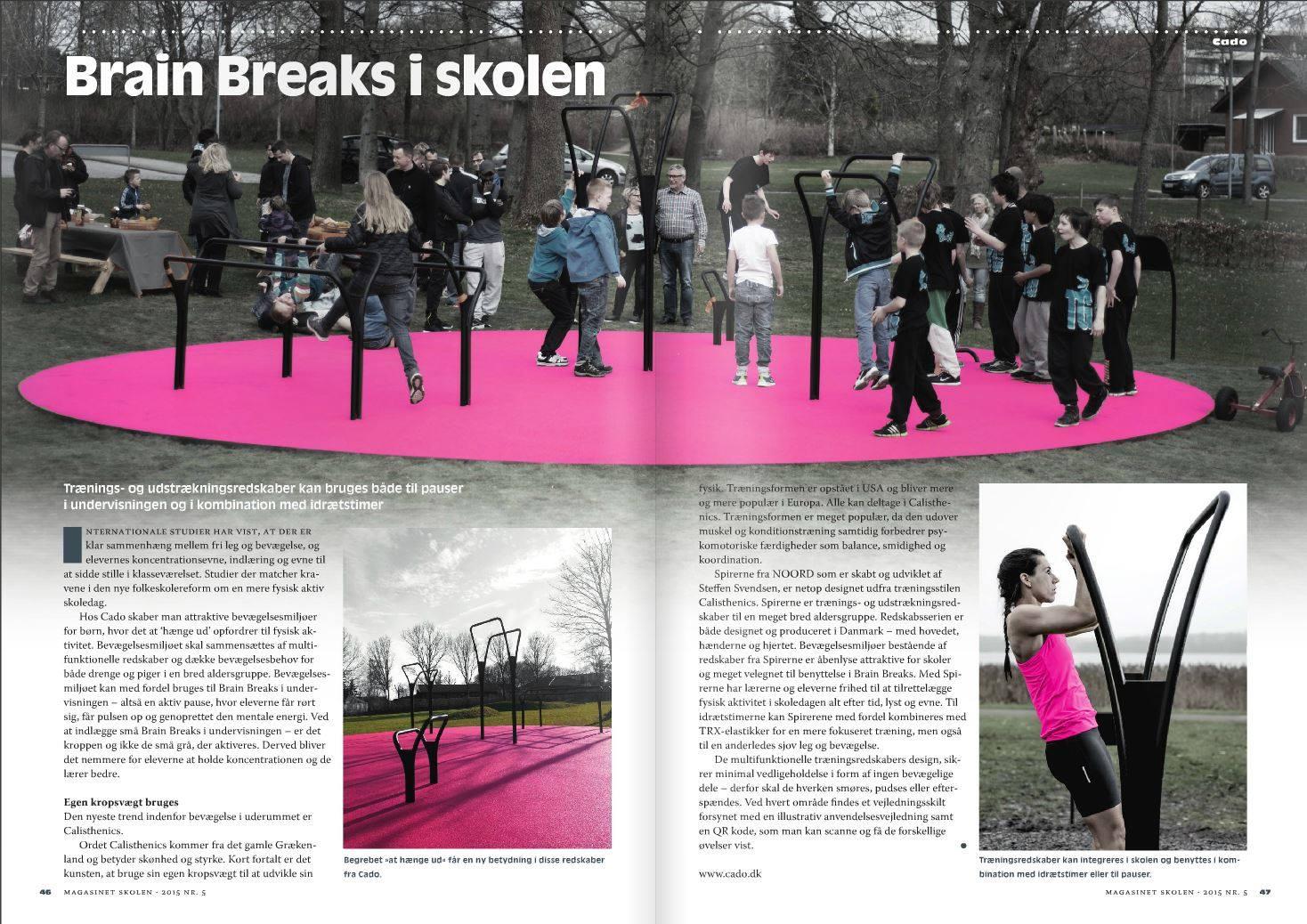 Magasinet skolerne Brain breaks udendørs fitnessredskaber
