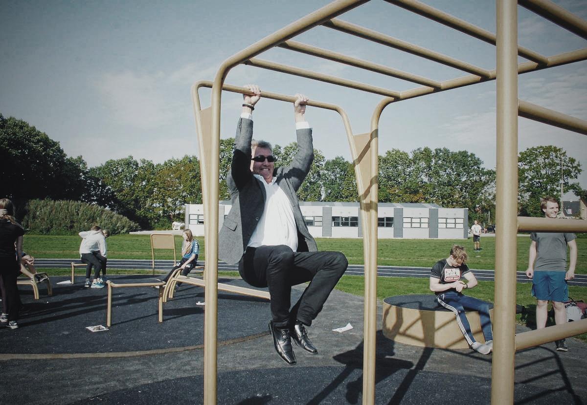 udendørs træningspark Indvielse Den Gyldne Træningspark Borgmester