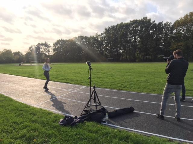 200m løbebane helstøbt gummi Behind The Scenes - billedmateriale