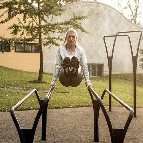 Funktionel udendørs fitnessudstyr med minimal vedligeholdelse