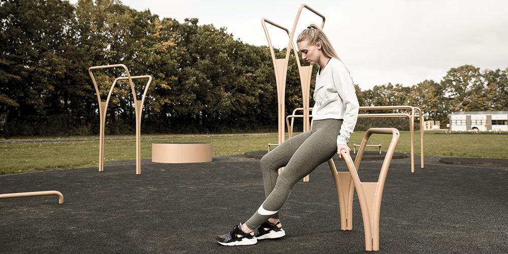 Vi udvikler funktionelle udendørs træningsparker til byrum og bolig områder