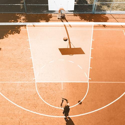 Asfalt maling / coating | asfalt maling til multibaner, legepladser, skolegårde, basketbane