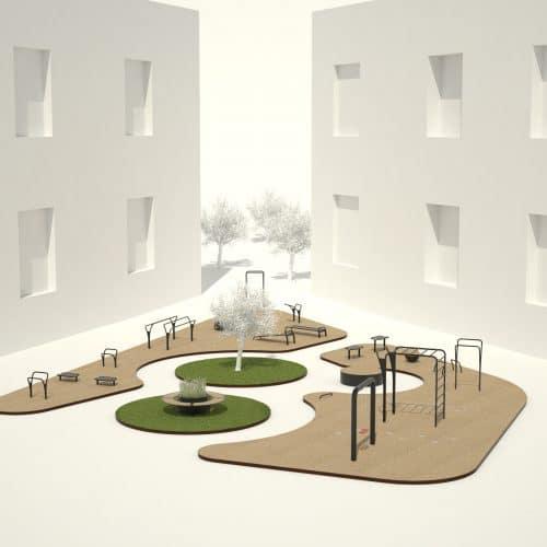 Udendørs træningspark næstved kommune
