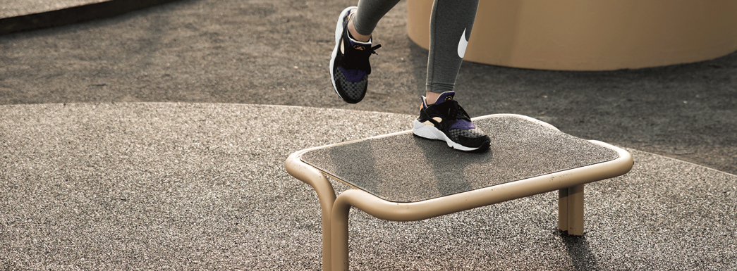 Stepbænk_udendørs-motionsredskaber