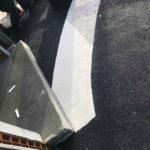 Reparation af sort gummibelægning efter