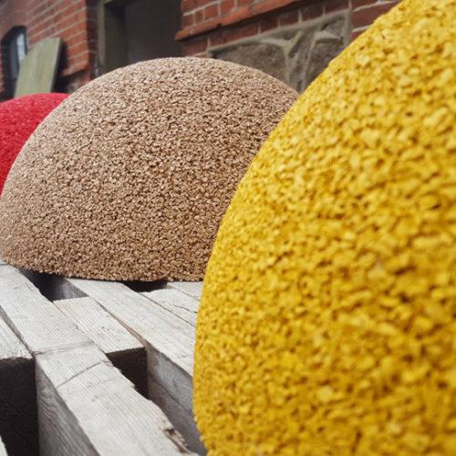 EPDM gummikugle i farver til legeplads